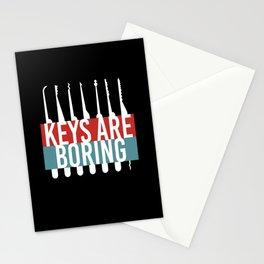 Keys Are Boring Lockpicker Stationery Cards