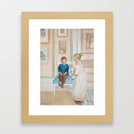 CARL LARSSON, kids playing Framed Art Print