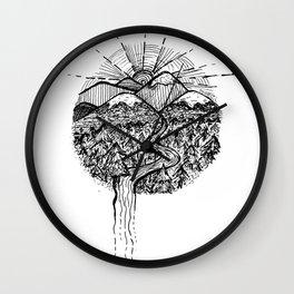 Utopian Hills Wall Clock