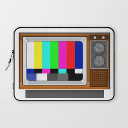 Retro Television Set TV Test Card Signal Pattern Laptop Sleeve