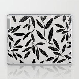 Black & White Plant Leaves Pattern Laptop & iPad Skin