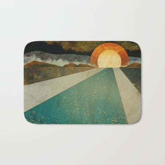 Retro Sunset Bath Mat