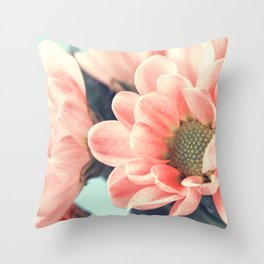 Lovely pale pink flowers Throw Pillow
