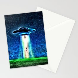 Area 51 Unidentified Flying Object Landscape Stationery Cards
