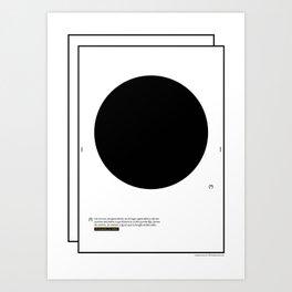 Geometric - Kreis . (Spanish) Art Print