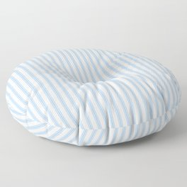 Farmhouse Ticking Stripes in Pastel Blue Floor Pillow