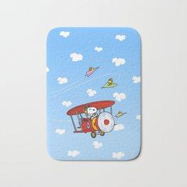 Snoopy Into the sky Bath Mat