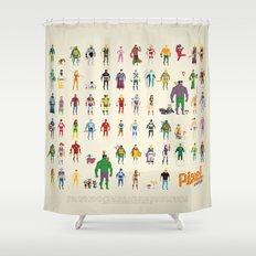 Pixel Nostalgia Shower Curtain