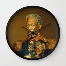 Morgan Freeman - replaceface Wall Clock