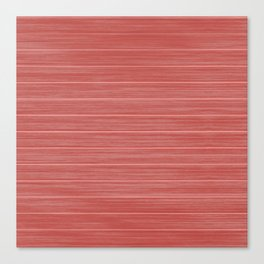 Pastel Red Whitewashed Beach House Cladding Canvas Print