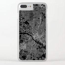 Dallas Black Map Clear iPhone Case