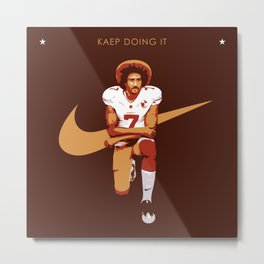 Colin Kaepernick - Kaep Doing It Metal Print