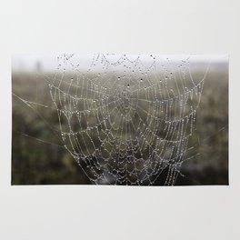 wet spider web Rug