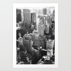 Concrete Jungle - New York (b&w) Art Print