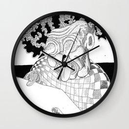 Branco fobia Wall Clock