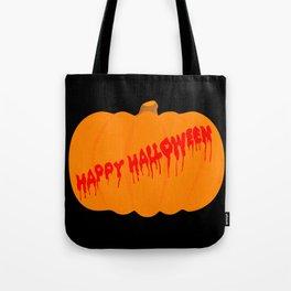 Totaly Evil Halloween Pumpkin Tote Bag