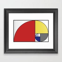 Mondrian vs Fibonacci Framed Art Print