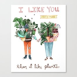 I Like You Canvas Print