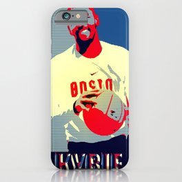basketball poster iPhone Case