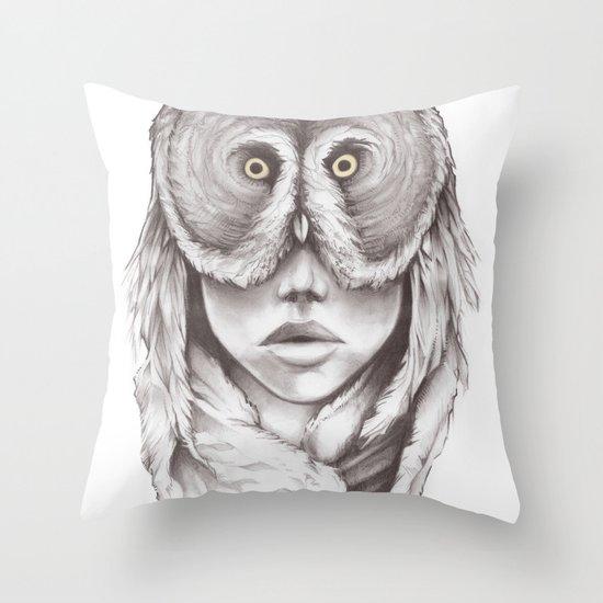 Owlhead Throw Pillow