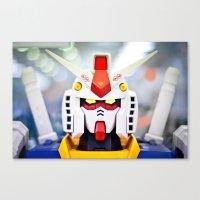 gundam Canvas Prints featuring Portrait Gundam by Long Thai - mineralblu.com
