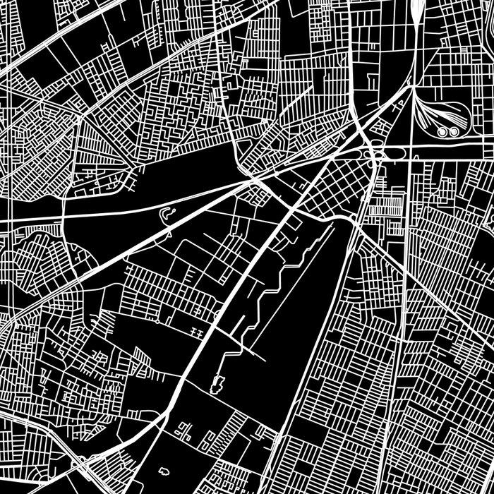 Santiago Black Map Leggings