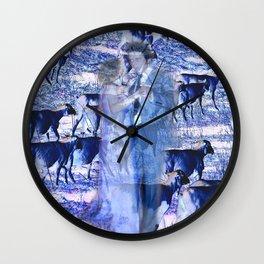 Dancing with Sheep Wall Clock