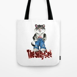 the Silly Cat Tote Bag
