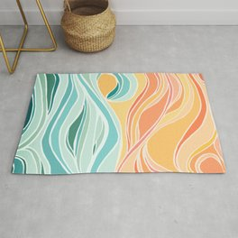 Sea and Sky II / Abstract Landscape Rug