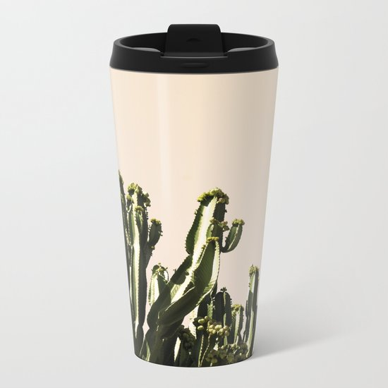 cactus nature x Metal Travel Mug