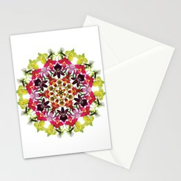 Tropical ladyslipper orchid mandala 1 Stationery Cards