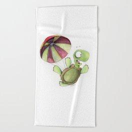 Falling Tortoise Beach Towel