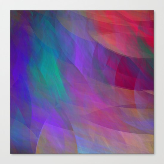 Color flames, artistic fractal abstract Canvas Print