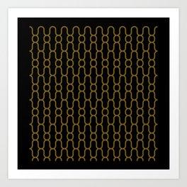 Lowercase x pattern Art Print