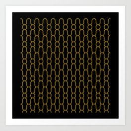 Lowercase x pattern Art Print