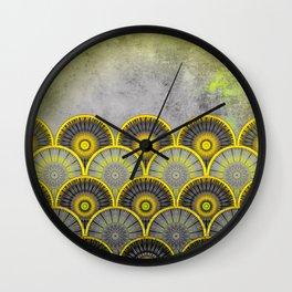 Abstract mandala scale pattern Wall Clock