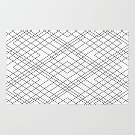 Black and White Circuit Rug
