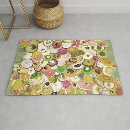 Fruit Madness (All The Fruits) Vintage Rug