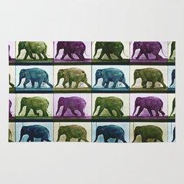 Time Lapse Motion Study Elephant Color Rug