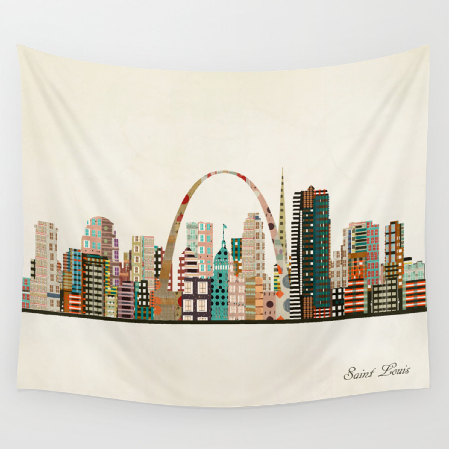 Saint Louis Skyline Wall Tapestry By Bribuckley Society6