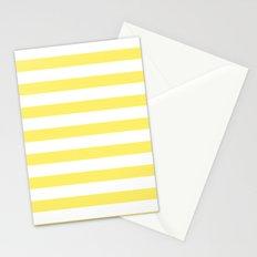 Lemon Yellow Stripes Stationery Cards