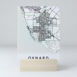 Oxnard CA USA White City Map Mini Art Print