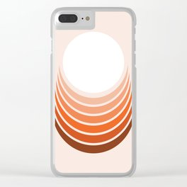 Red Rock Crescent Clear iPhone Case