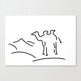 camel in desert Canvas Print