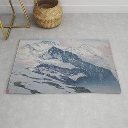 Hiroshi Yoshida - Jungfrau - Japanese Vintage Ukiyo-e Woodblock Painting Rug