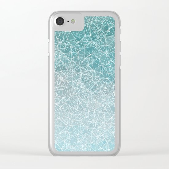 Polygonal A3 Clear iPhone Case