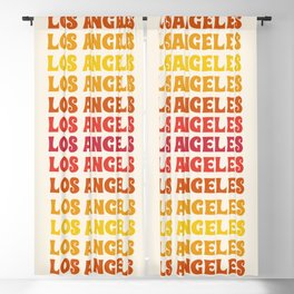 Los Angeles - retro vibes throwback minimal typography 70s colors 1970's LA Blackout Curtain