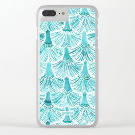 MERMAID TAILS Nautical Scallop Pattern Clear iPhone Case