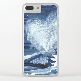 With love from the Southern Right Whale Clear iPhone Case