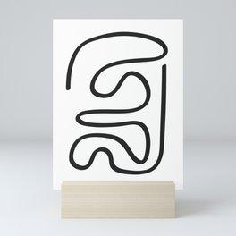 Abstract Line #2 \\ Black Line Mini Art Print